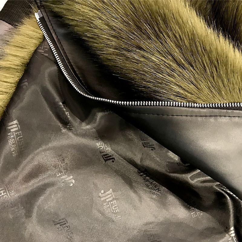 Sol Chaquetas de invierno lluviosas para niñas Abrigo de piel sintética Chica PU Cuero de imitación de la chaqueta de piel falsa de dos piezas Abrigos de piel cálida para niños