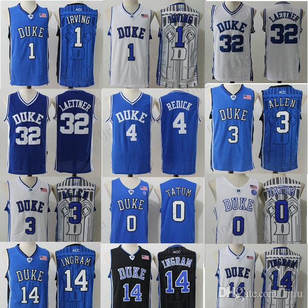 sports shoes 60f67 972b1 order duke blue devils 1 kyrie irving white jersey 20a20 61514