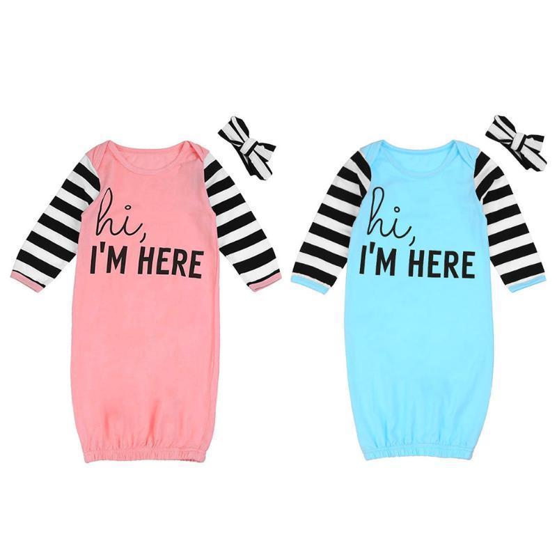 c0a12a389ff5 Newborn Baby Boy Girls Long Sleeve Romper Bodysuit Sleeping Bag ...
