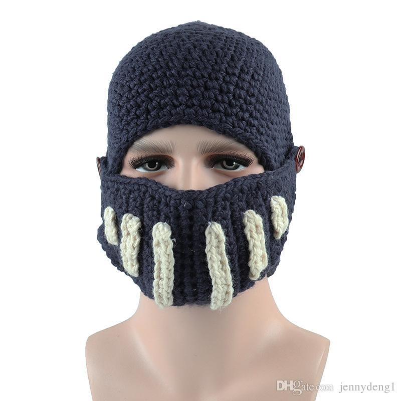 01f0074247a 2019 Winter Fashion Men Outside Warm Masks Hat Handmade Bulk Wholesale Knitted  Cap From Jennydeng1