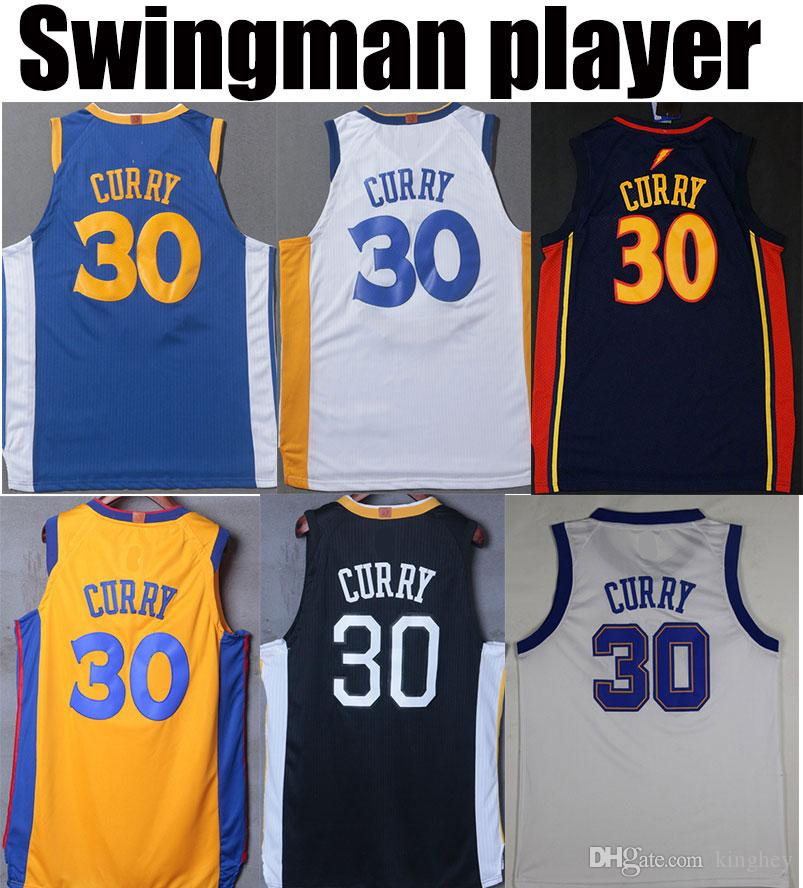 huge selection of 5dab5 52041 the bay basketball jerseys camisetas stephen curry kevin durant draymond  green klay thompson white swingman #35 #30 #11 #23 high quality