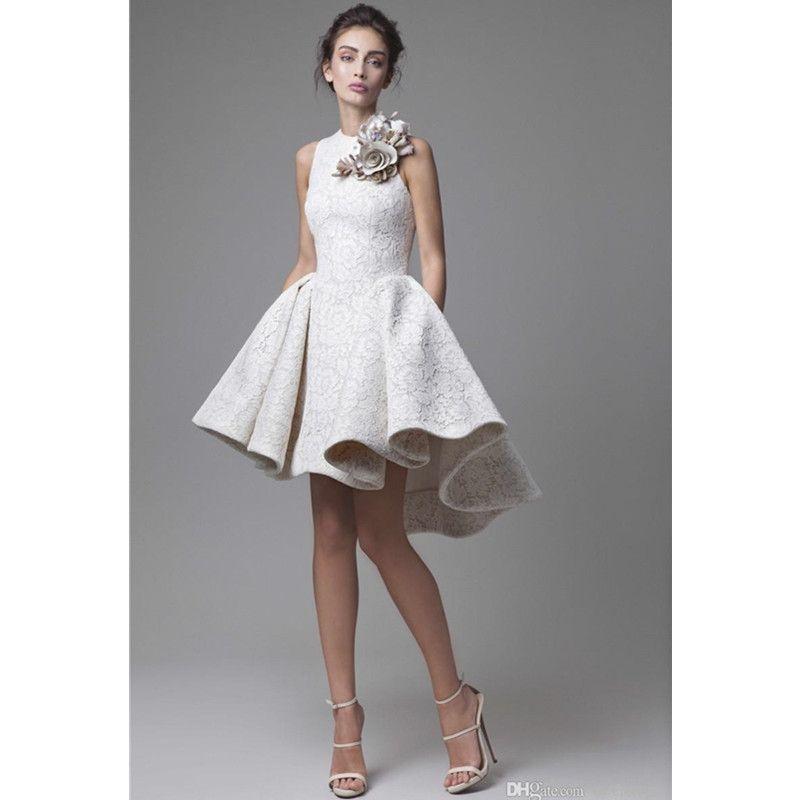 Short Skirt Wedding Dress
