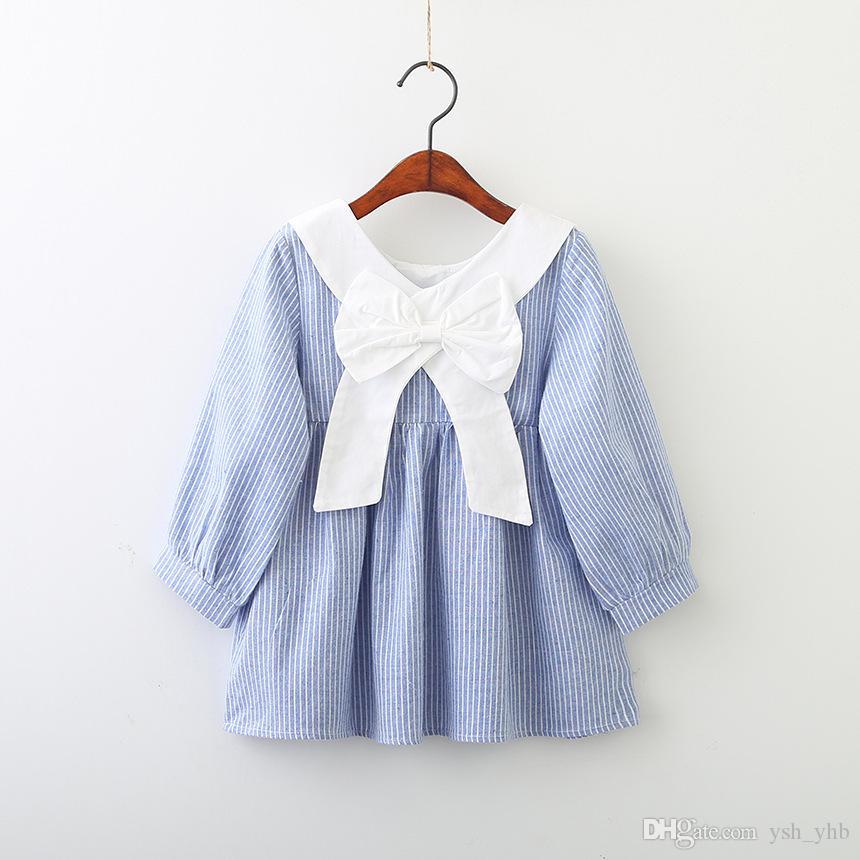 07b26bd5b015 2019 Baby Girls Dress New Lolita Style Girls Pink Long Sleeves Doll ...