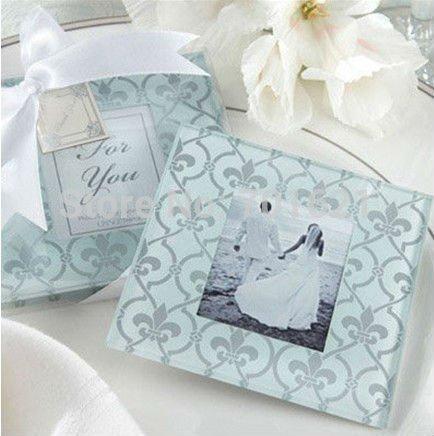 Wholesale X Fleur De Lis Wedding Favours Photo Frames Glass Coasters ...