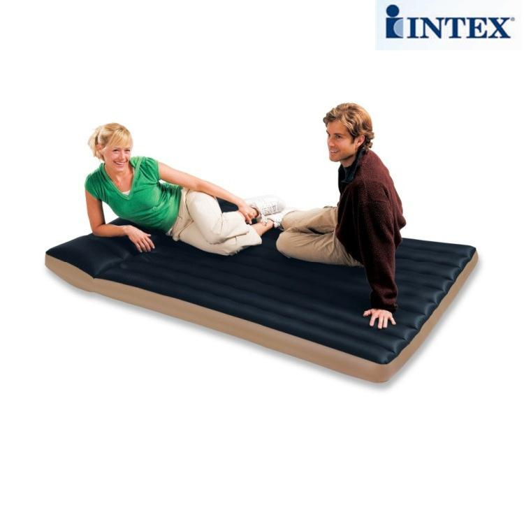 INTEX new luxury striped double air mattress tent camping air cushion  built-in pillow 68799