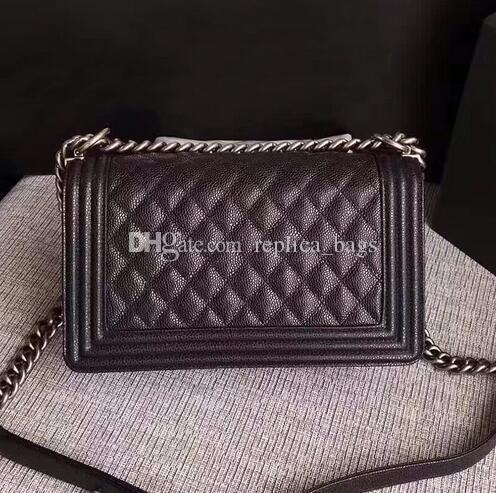 Luxury Designer Classic Le Boy Flap Bag Women s Plaid Chain Bag Brand  Crossbody Bags Woc Chain Lambskin Shoulder Bag 25cm Caviar Handbags Brand  Handbags ... 6afd97d6fa75