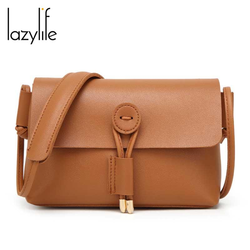 24d1655bdc LAZYLIFE 2018 Hot Crossbody Bags For Women Casual Mini Candy Color Messenger  Bag For Girls Flap Pu Leather Shoulder Bags Cheap Designer Handbags Black  ...