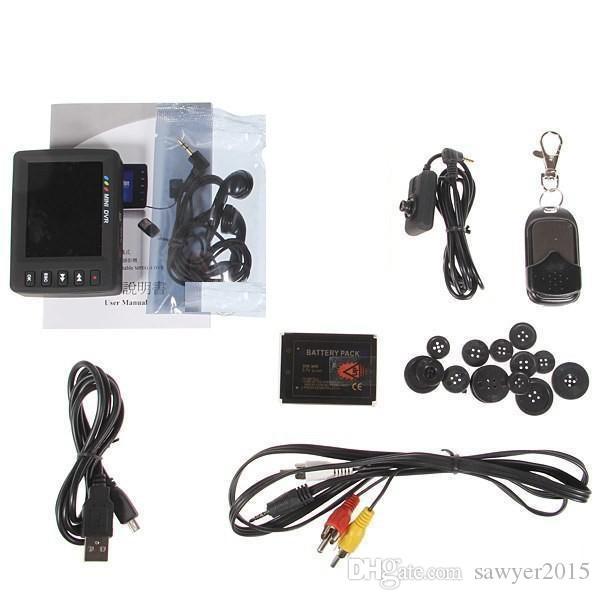 ملاك العين الأصلي KS-750M 2.7 بوصة شاشة LCD TFT زر ميني DVR كشف الحركة مصغرة نظام تسجيل الفيديو زر DVR