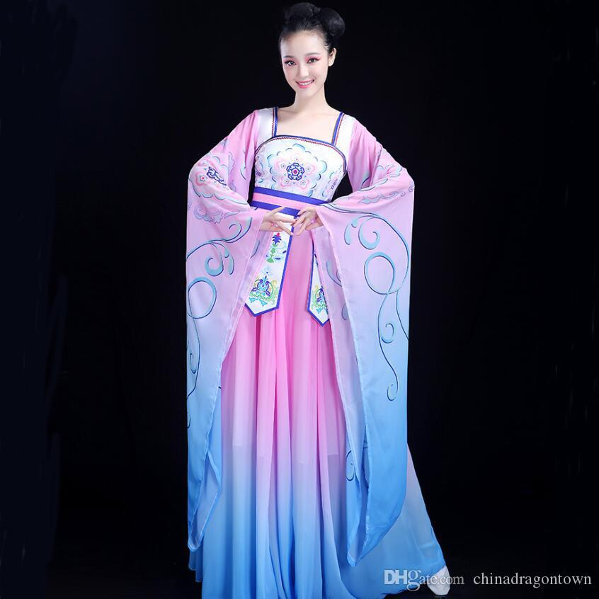 ad99c4a8c0f 2019 Chinese Folk Dance Fairy Fancy Costume Women S Classical Dance Dress  Traditional Oriental Clothing Ancient Royal Stage Dance Wear From  Chinadragontown