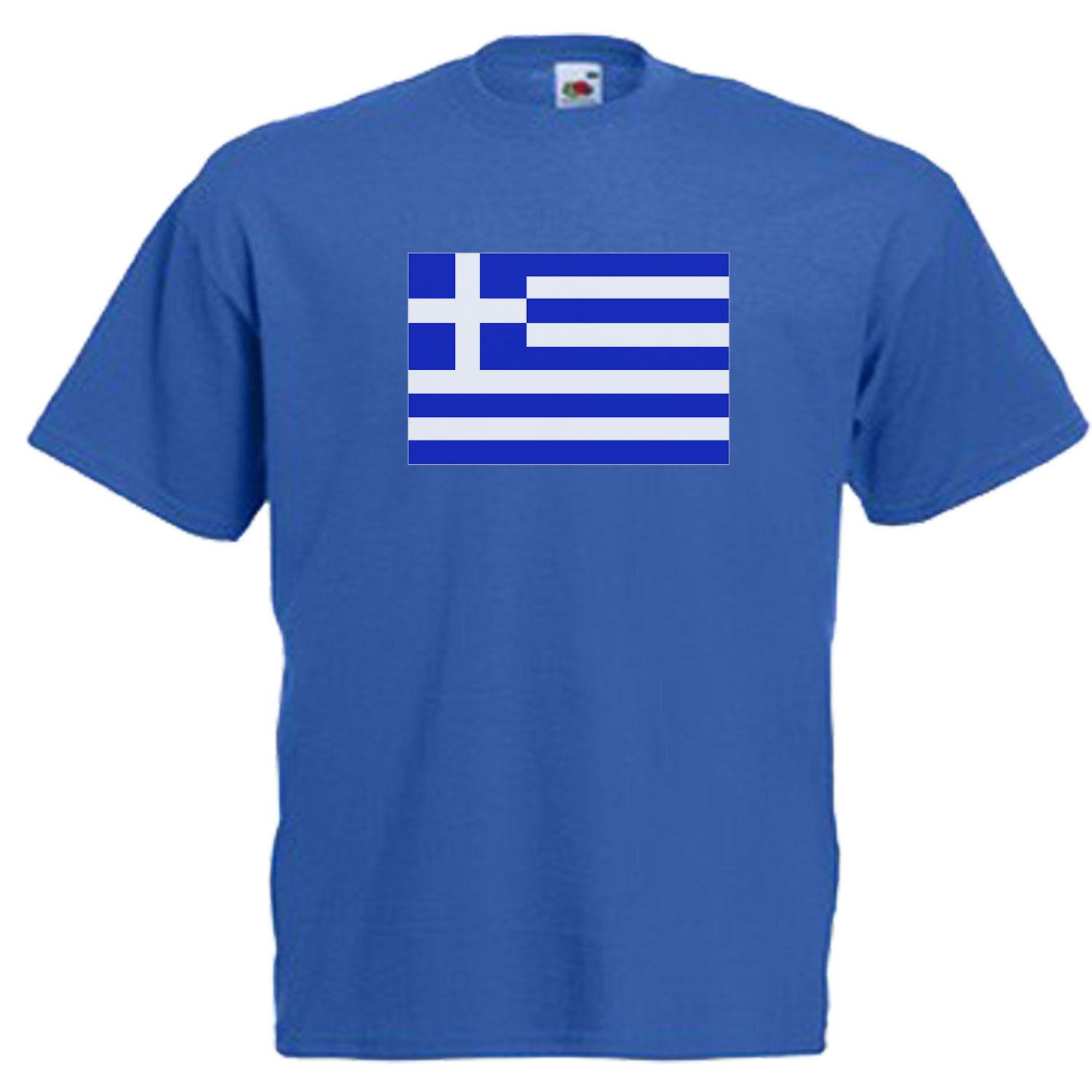 Greece Greek Flag Adults Mens T Shirt 12 Colours Size S - 3XL Funny free  shipping Unisex Casual tee gift