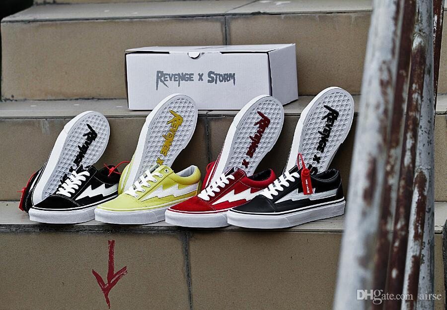 VANS 2018 new Revenge X Storm Old Skool Canvas Designer Sneakers Women Men Fire Red flame White Black Casual Shoes zapatillas de deporte outlet locations online free shipping looking for clearance wholesale price footlocker cheap online cheap sale order IR9un