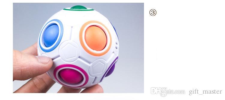 Magic Rainbow Ball 3D inteligente de plástico de fútbol Fidget Cube Speed Puzzle niños juguetes de aprendizaje educativo juegos J