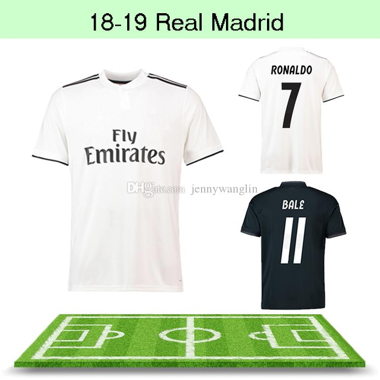 official photos 1b18f 8edb3 Thailand Quality 18 19 New Real Madrid Football Jersey RONALDO MODRIC  ASENSIO ISCO MARCELO CARVAJAL RAMOS BALE Home Away Football Shirts