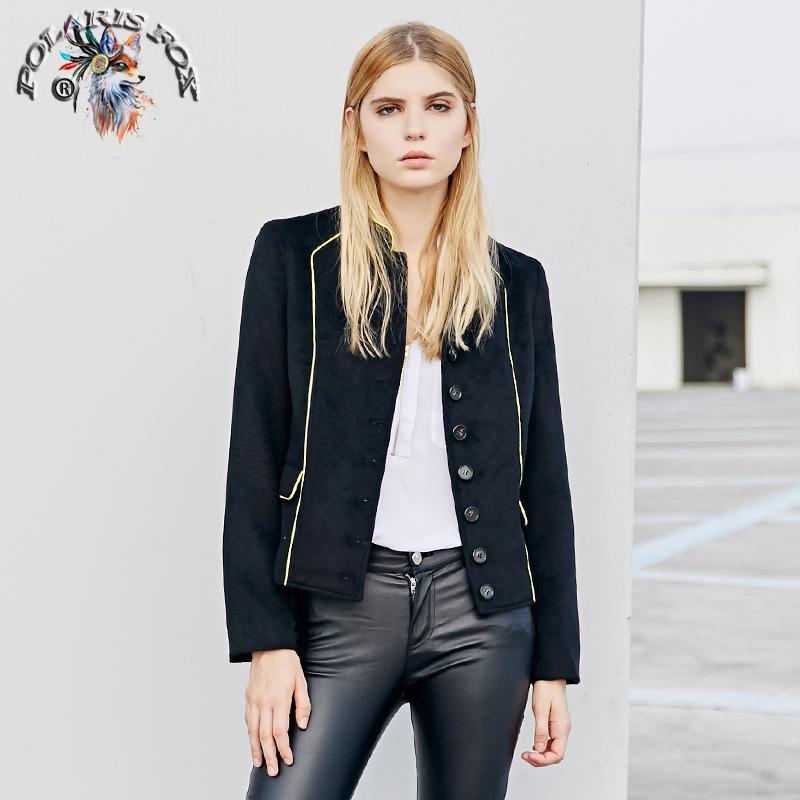 on sale 64eab 4d321 Polaris fox 2018 Donna Vintage filo d oro giacca corta Nuovo stile cinese  moda tasca con patta calda giacca di colore solido cappotto invernale