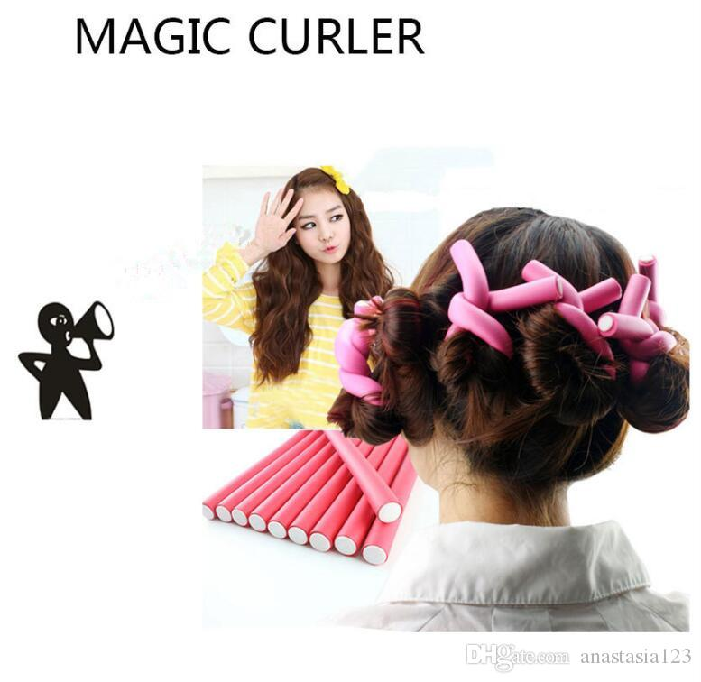 At Fashion Bendy Rollers Flexi Rods /Set 7 Styles Diy Hair Curling Rods Magic Hair Roller Soft Flex Rods For Hair dhl