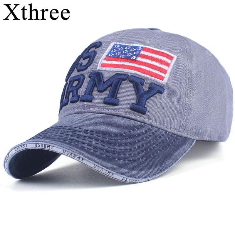 Compre Xthree 100% Algodón Lavado Gorras De Béisbol Hombres Casquillo Del Verano  Bordado Casquette Sombrero Del Papá Para Las Mujeres Gorras Planas Snapback  ... 5e5ece5b393