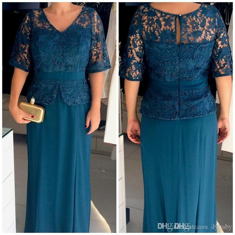 2018 sexy plus size long sleeves lace mother of the bride evening dresses gowns