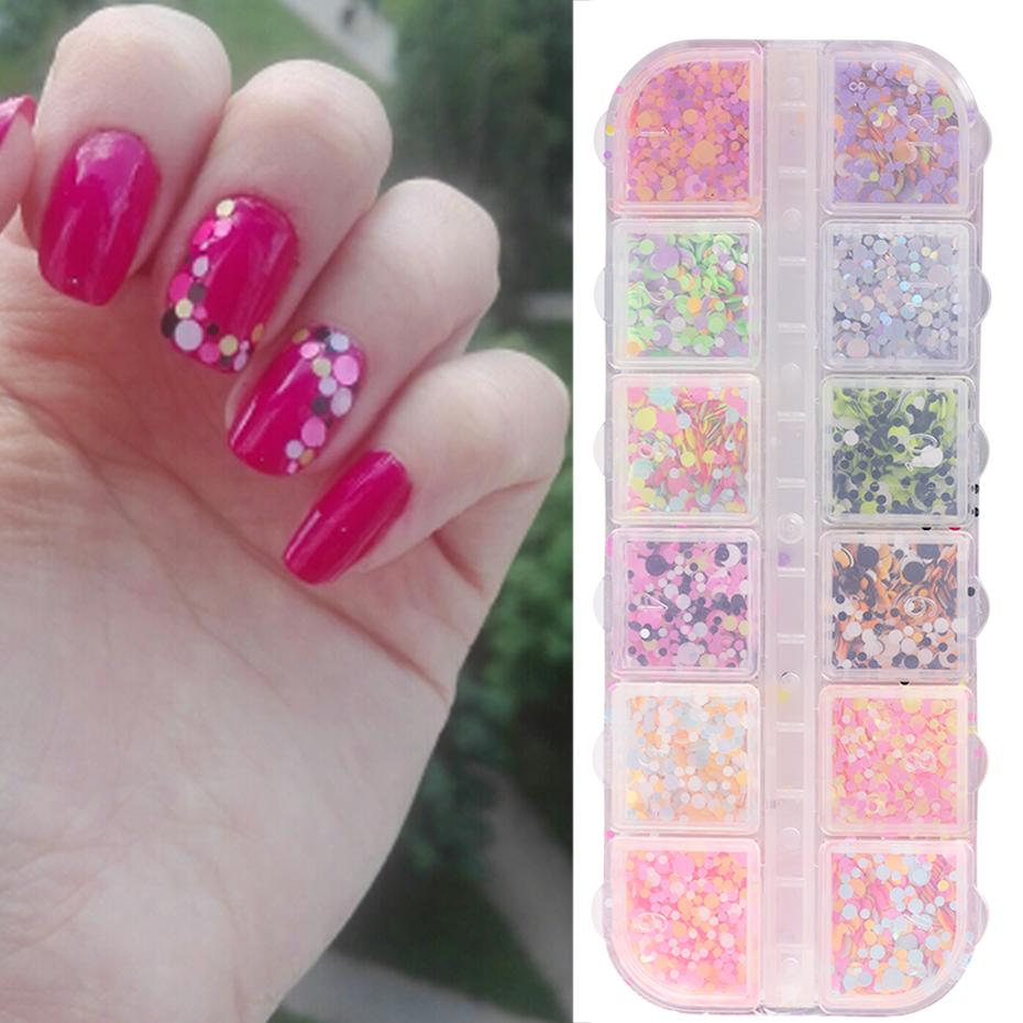 Art Glitter Full Beauty 2018 New Mixed Colorful Round Sequins Nail ...