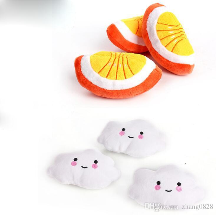 Plush Toy Lovely Sound Mouse Pet Plush Dog Toy Sounds Banana Watermelon Radish Chicken Leg Pet Plush Toys
