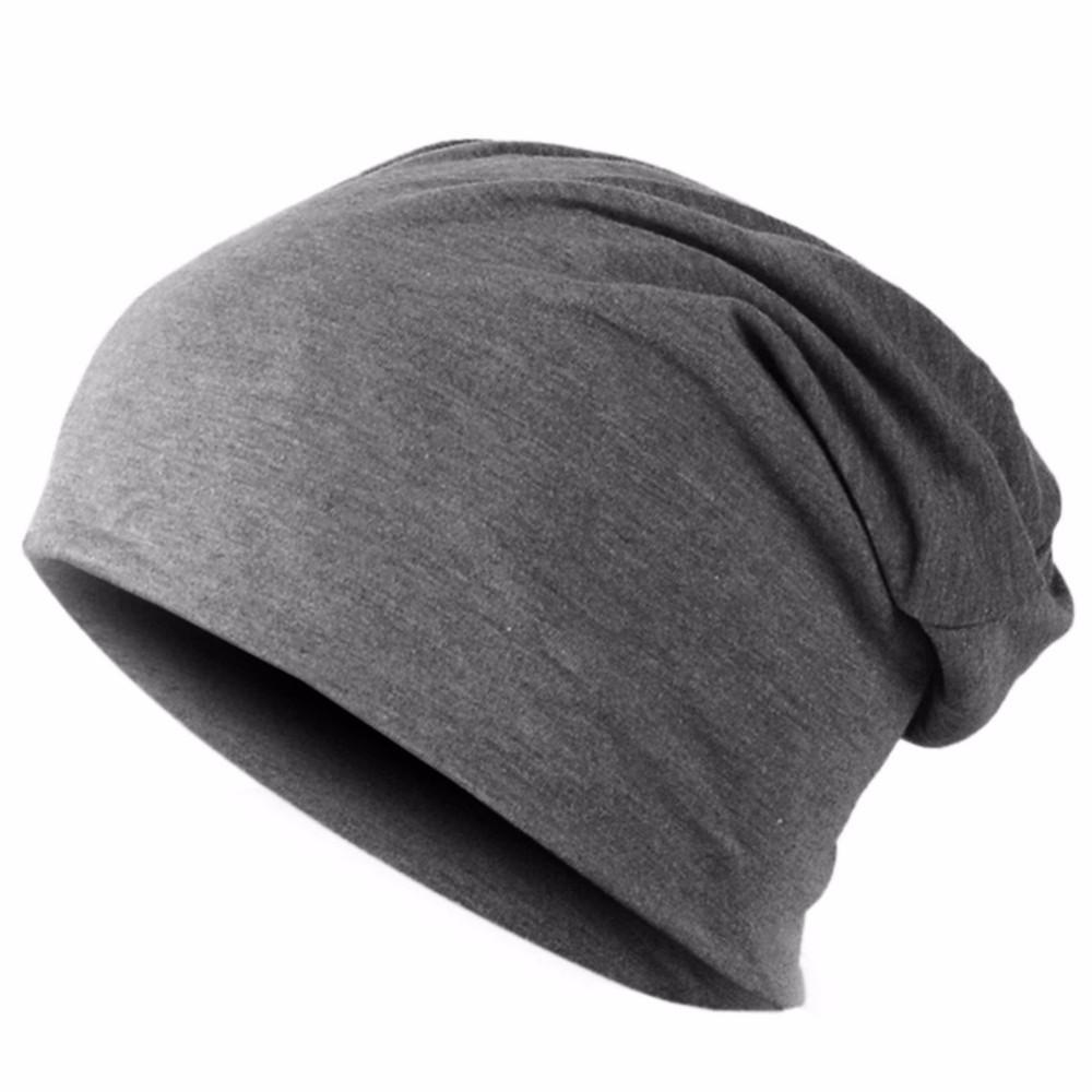 Men Women Beanie Knitted Winter Cap Solid Color Hip-hop Slouch Hats ... c16d456beca5
