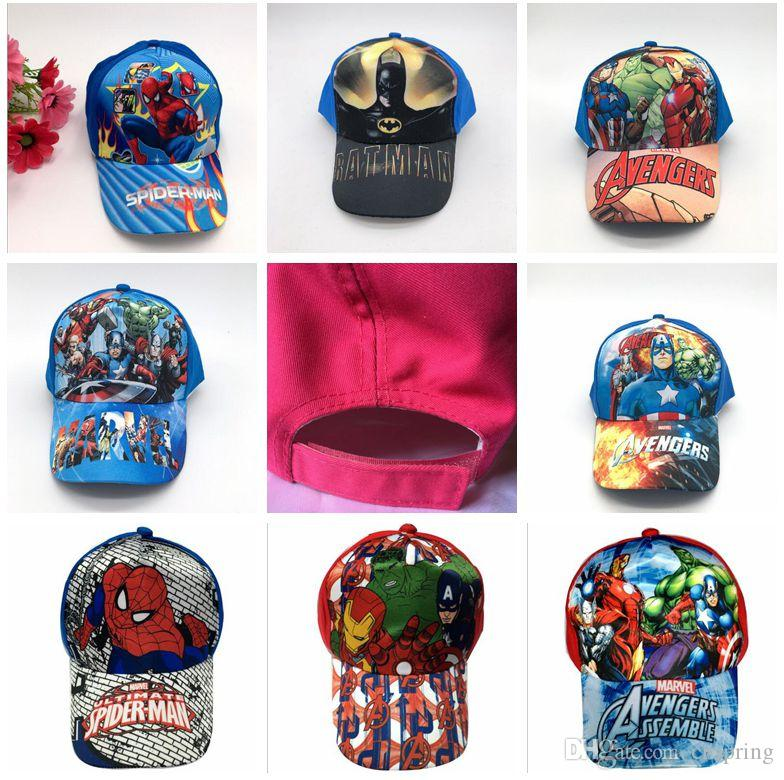 Superhero Avengers League Mix Boy Girl Fashion Sun Hat Cloth Cap ... c4ca3b754c14