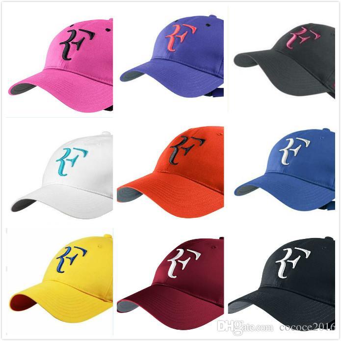 Roger Federer RF Hybrid Baseball Caps Hat Breathable Adjustable 2018 ... 6360a947136