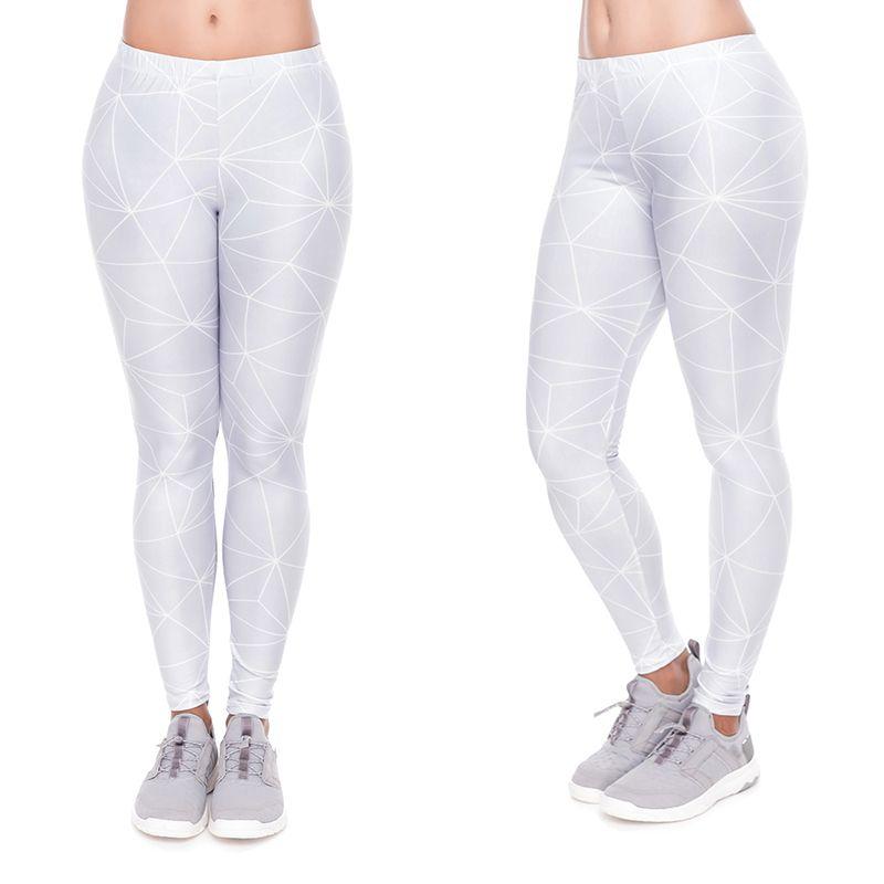 a7fe5abbd63c7 2019 Women Leggings Gray Polygon 3D Print Lady Skinny Stretchy Yoga Wear  Pants Girl Gym Fitness Casual Elastic Waist Band Trousers YX52059 From  Joybeauty, ...