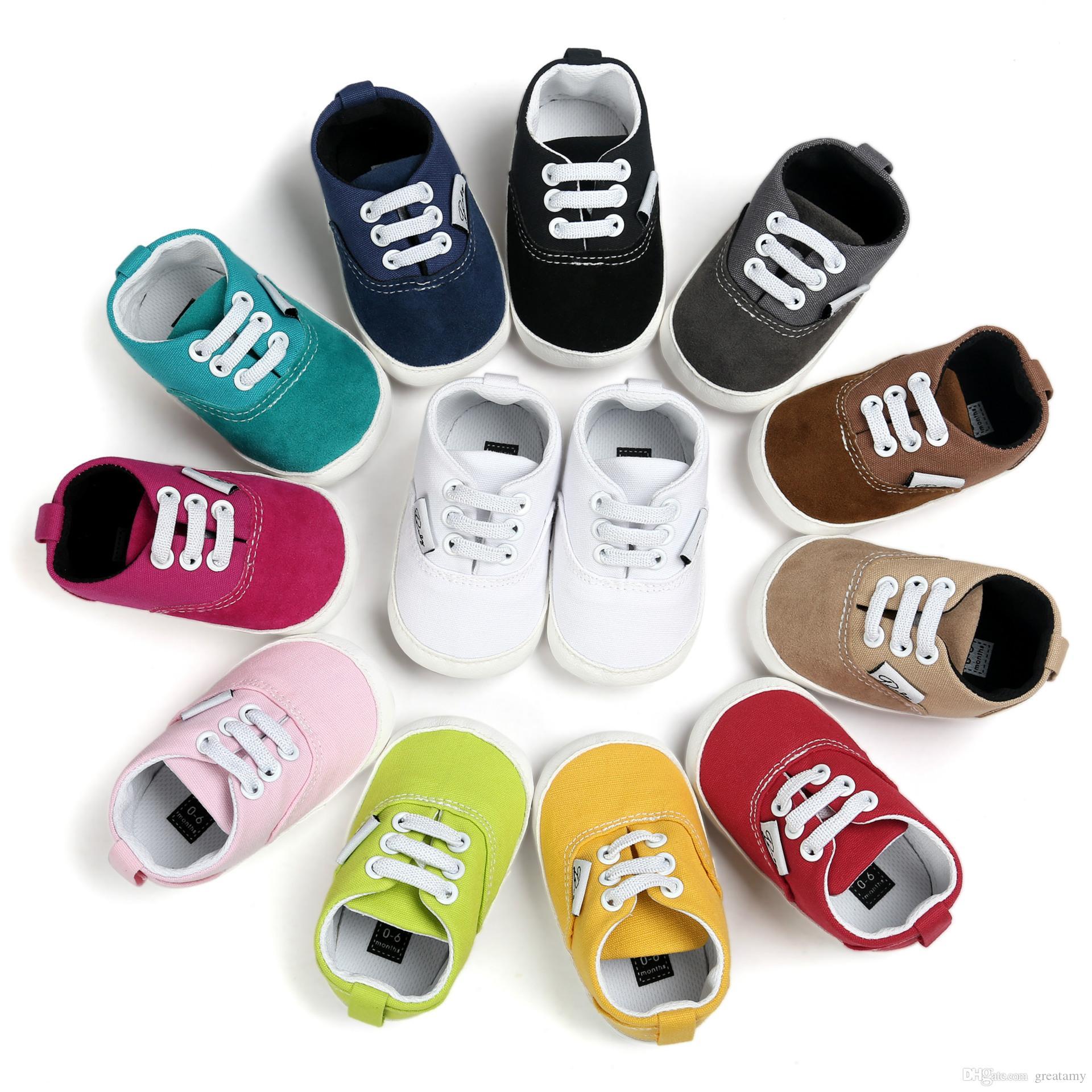 Mother & Kids Boys Girls First Walkers Newborn Baby Prewalker Soft Sole Toddler Sports Shoes Anti-slip Kids Canvas Shoes Children Feet Wear Convenient To Cook