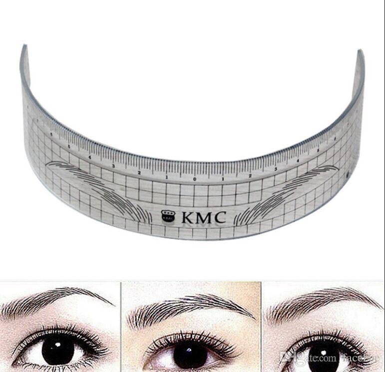 Permanent Makeup Stencils Plastic Eyebrow Ruler Tattoo Radian Ruler