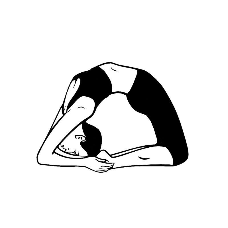 14*10 3 Coolest Yoga Meditation Fitness Decor Vinyl Car Sticker Bumper  Window Silhouette
