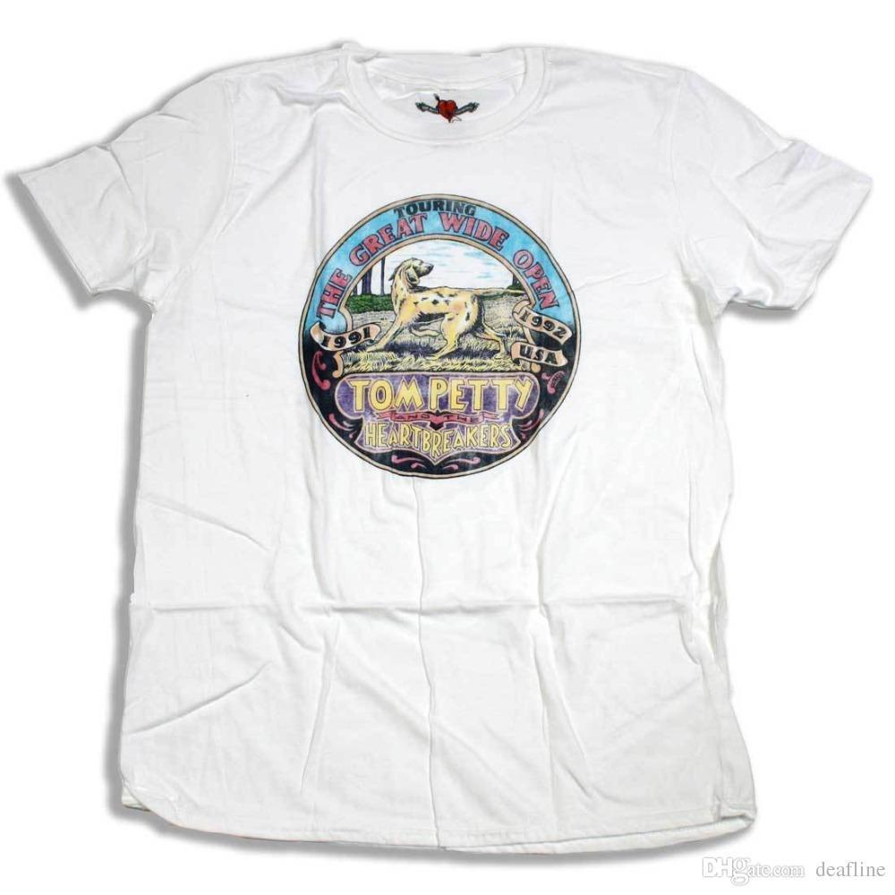 e2aefcdf2 Summer 2018 New Tom Petty T Shirt Into The Great Wide Open Tour 100%  Official Heartbreakers Fab! O Neck Short Sleeve T Shirts T Shirt Online Buy Cool  Tees ...