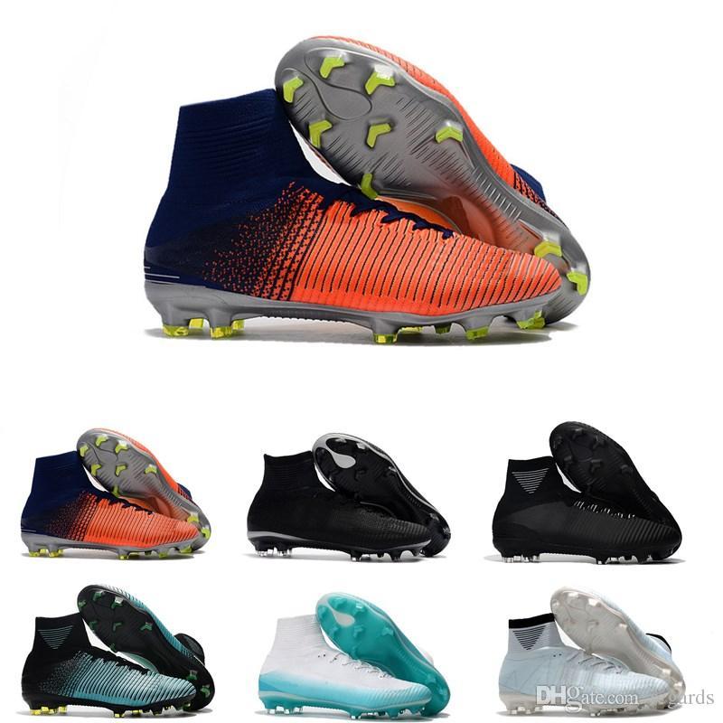 sports shoes 4115d 3a6bb Mens CR7 Mercurial x EA SPORTS Superfly V FG Soccer Shoes Magista Obra 2  Boys Soccer Cleats Women Football Boots Youth Cristiano Ronaldo