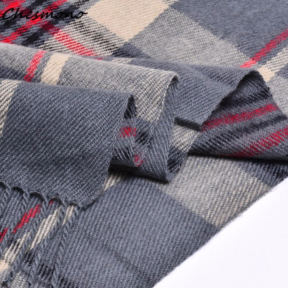 Classic Plaid Checkered Big Grid Lattice Tartan Scarf with Buttons for women girl female lady poncho shawl cape cloak muffler