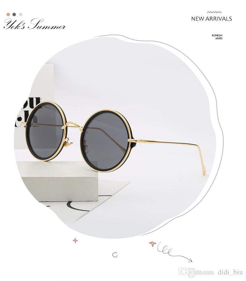 1550ac51a39 Summer Round Coating Men Designer Sunglasses Gold Thin Metal Frame  Steampunk Sun Glasses Women Black Mirror Lens Oculos WL008 Mens Sunglasses  Police ...