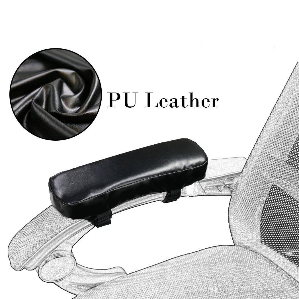 pu leather chair armrest pad cushion memory foam soft elbow pillow