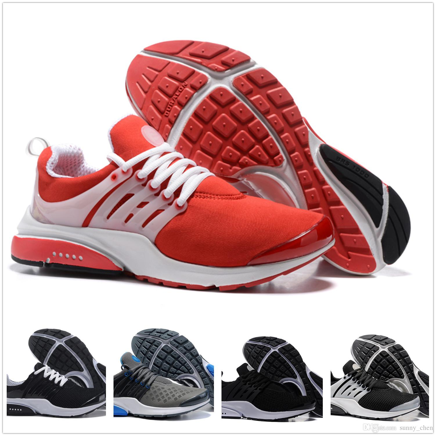 d3909e093b8a 2018 Presto 5 BR QS Breathe Black White Yellow Red Men Women Running Shoes  Prestos Sports Shoe Air Sole Walking Mens Designer Sneakers Sale Shoes Men  Shoes ...