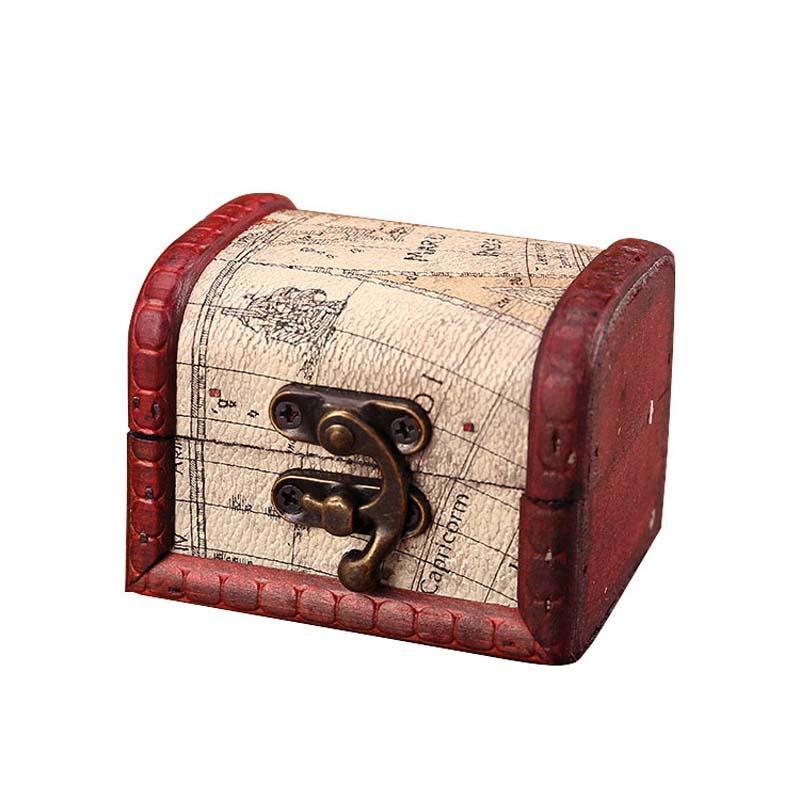 bef7a844b2 Compre Caixa De Jóias Vintage Caixa De Armazenamento Organizador Mini  Madeira Mapa Do Mundo Padrão De Metal Recipiente De Madeira Artesanal Caixas  Pequenas ...