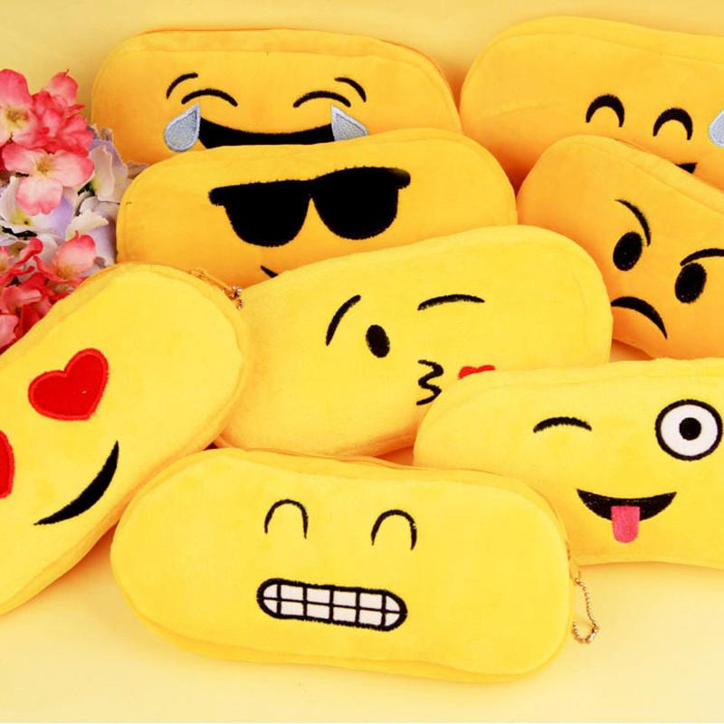 Funny Cartoon Emoji Expression Pencil Case Creative Korean Stationery For Students Gift