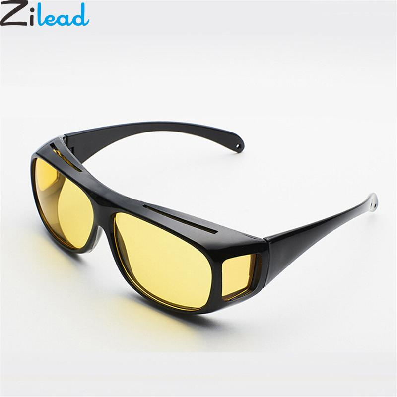 fb249a0c112 Zilead Men Women Sunglasses Night Vision Goggles Car Driving Glasses HD  Yellow Lenses Sun Glasses Eyewear UV Protection Unisex Sunglasses Sale Kids  ...