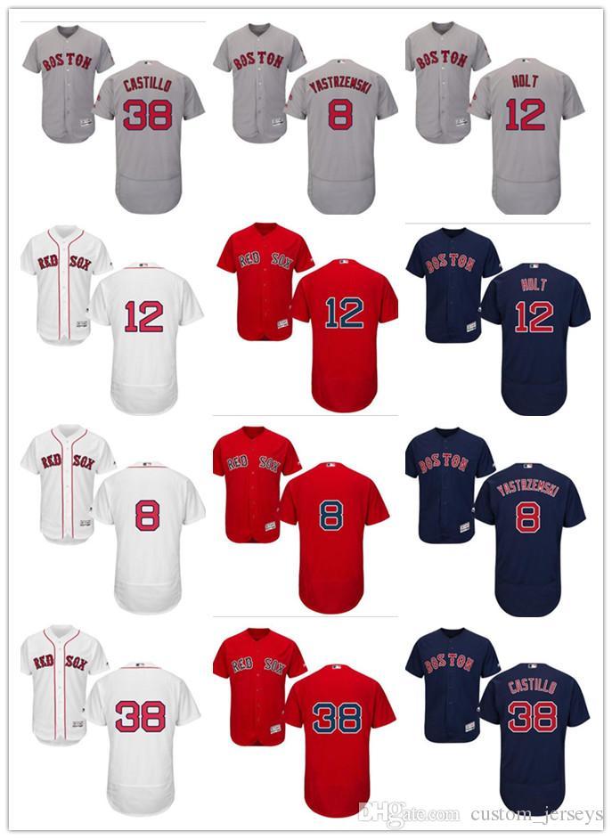 Custom Men Women Youth Majestic Red Sox Jersey  8 Carl Yastrzemski ... 9bddd846551