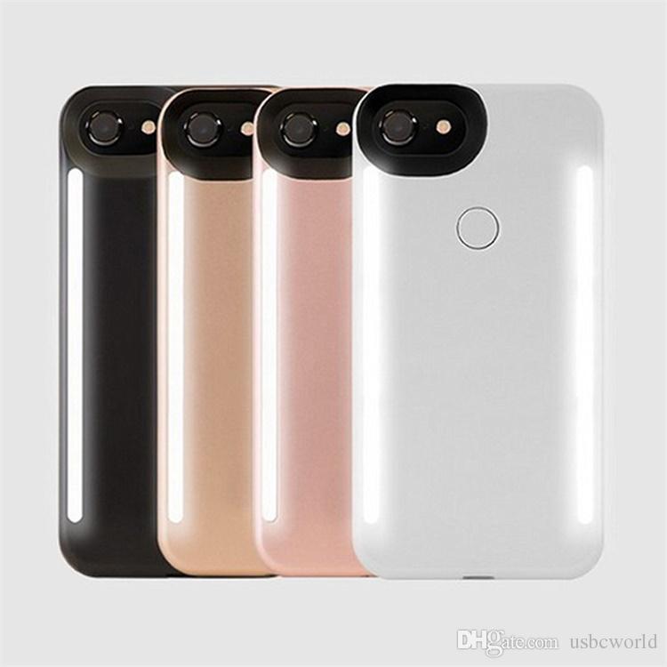 new styles bbc51 a8d2c LED Light Selfie Phone Case Light Flash Luminous Phone Back Cover Cases For  IPhone X XS 6 7 8 Plus