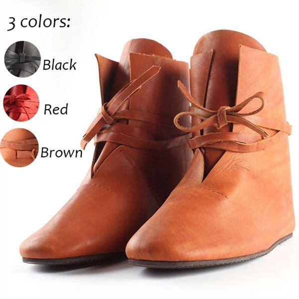 Cuero De Cosplay Mujeres Medievales Las Calzado Compre Botas Para HUxwf7pq