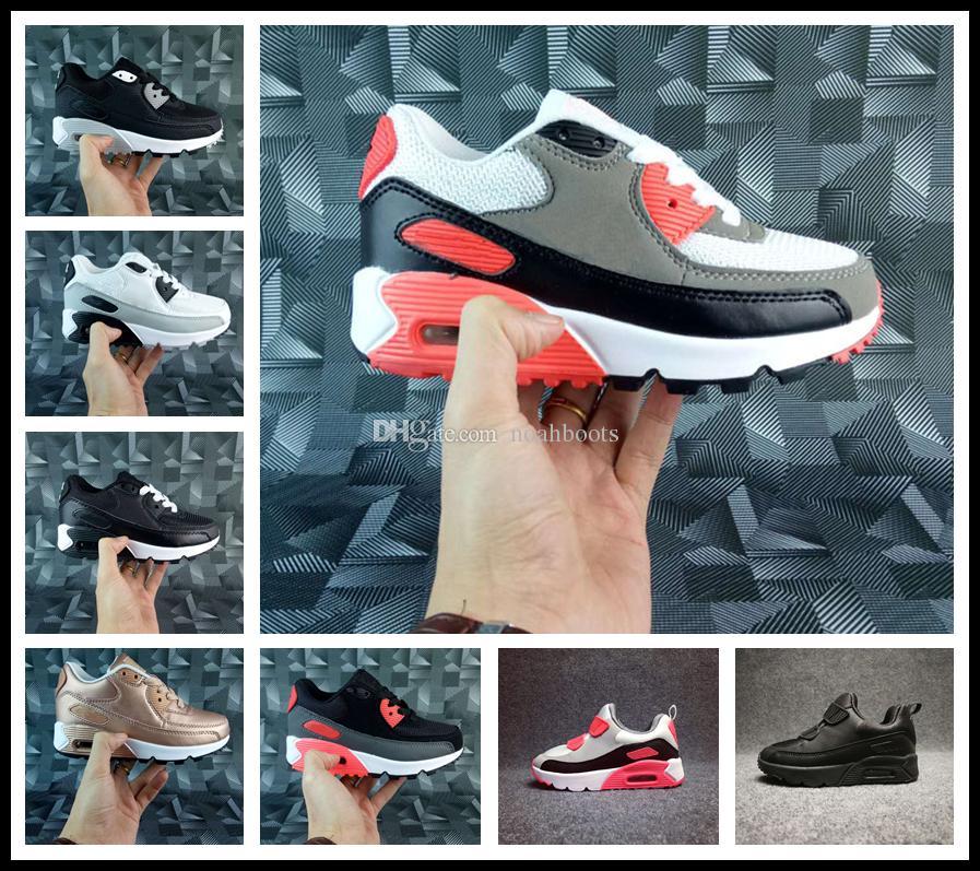 5761a8c623e300 Acquista Nike Air Max Airmax 90 Scarpe Da Ginnastica Bambini Scarpe  Classiche 90 Scarpe Da Corsa Scarpe Da Ginnastica Sportive Bambina  Infantile Ragazzo ...