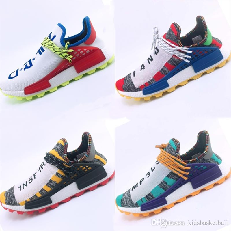 97381429e With Box 2018 New Boost PW HU Knit Breathable Running Sneakers ...