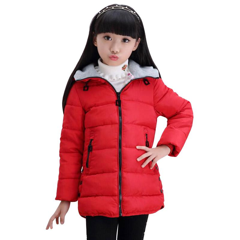 Brand Quality Children Duck Down Parka 2018 Long Warm Kids Girls Coat Winter Jackets For Teenage Girls Cute Baby Girls Clothes
