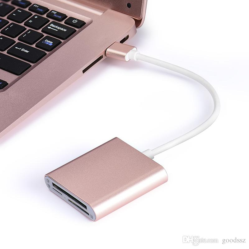 3 In 1 Card Reader Mini USB 3.0 SD Micro SD TF CF Memory Cards Reader With USB Cable