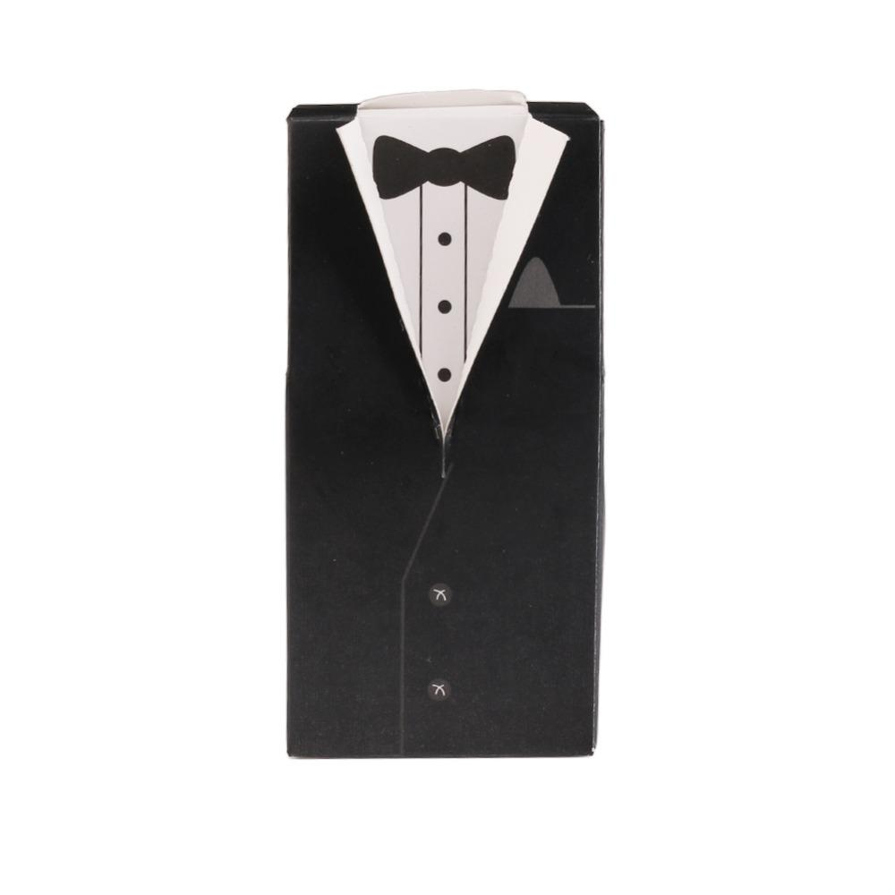 2018 European Style Groom Tuxedo Candy Box Candy Bag Romantic ...
