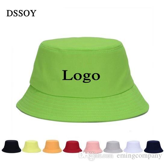 Plain Cotton Bucket Hats For Adults Mens Womens Fishing Caps Blank Summer  Beach Fisherman Cap Welcome Custom Color Printing Embroidery Logo Hat  Embroidery ... 1d1673c51c7