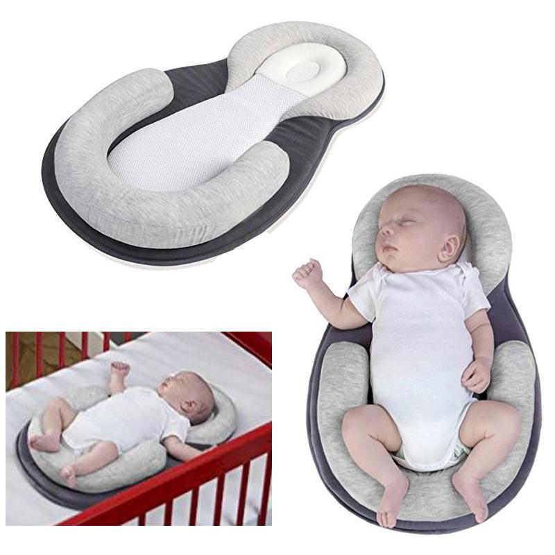 Newborn Baby Safety Sleep Protector Pillow Anti Roll Bed Cushion