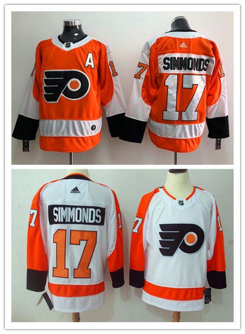 2018 2019 New Mens 17 Wayne Simmonds Philadelphia Flyers Hockey Jerseys  Stitched Embroidery Flyers Wayne Simmonds White Orange Ice Hockey Jerseys  From N f l ... 9d2fe3c3e